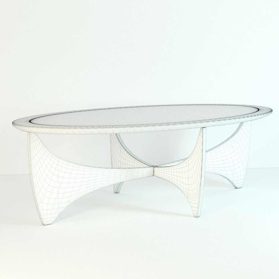 Coffee Table Astro royalty-free 3d model - Preview no. 7