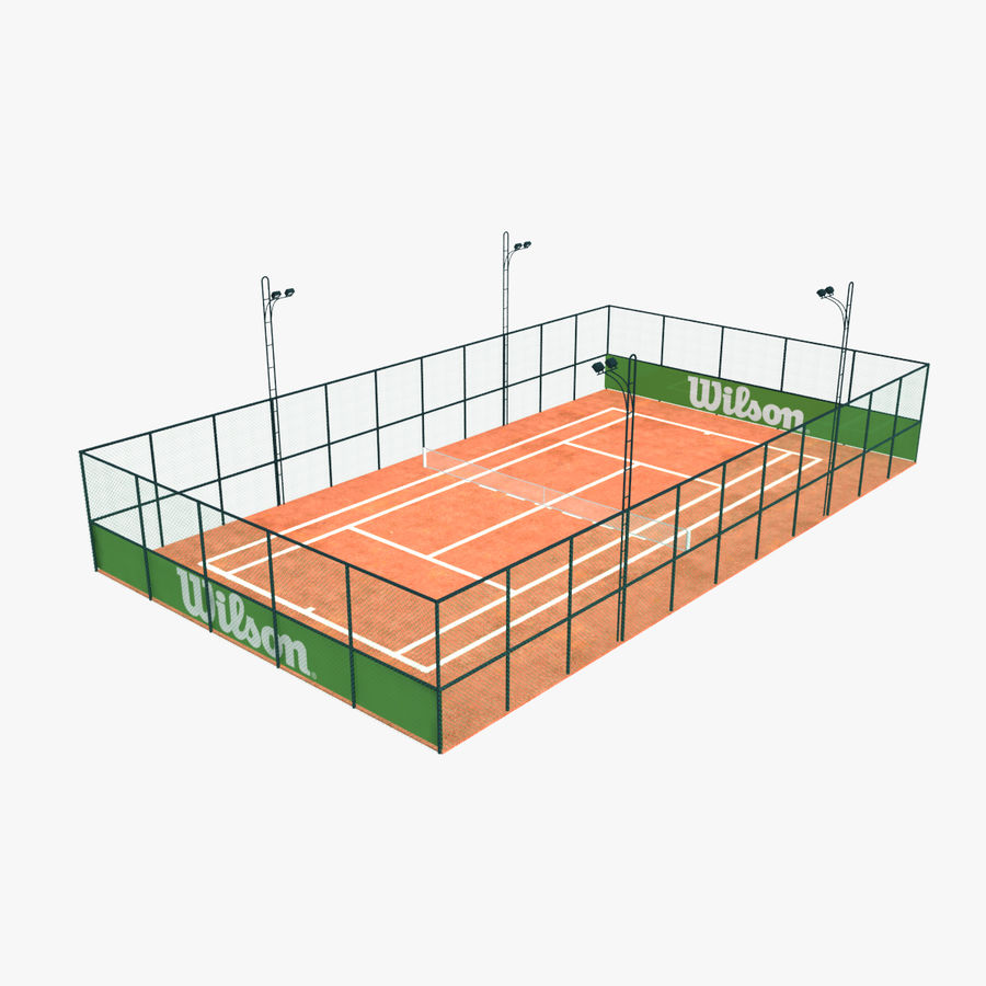 Tennis Court royalty-free 3d model - Preview no. 1