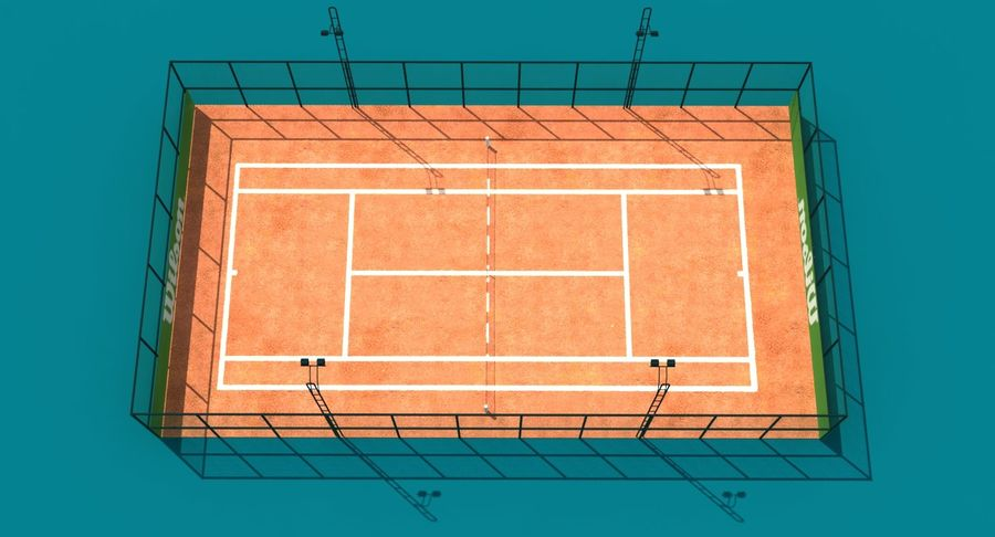 Tennis Court royalty-free 3d model - Preview no. 4