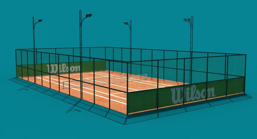 Tennis Court royalty-free 3d model - Preview no. 5