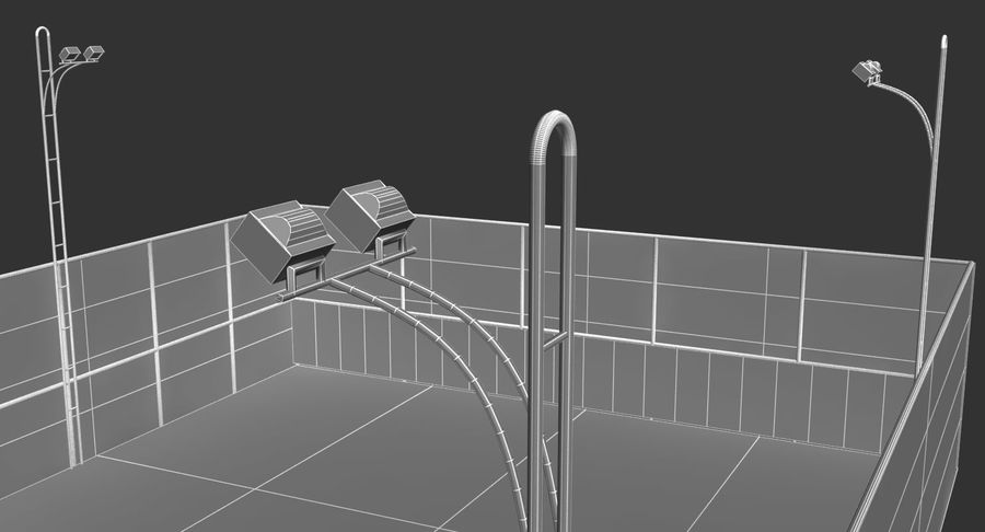 Tennis Court royalty-free 3d model - Preview no. 8