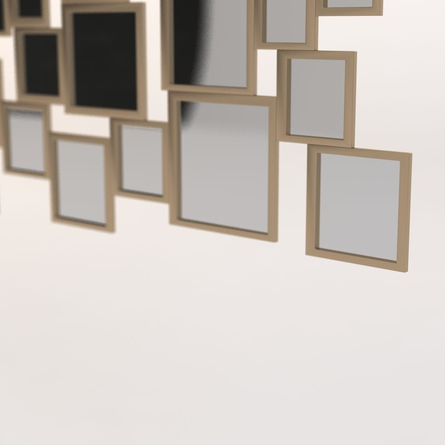 Miroir Isabella par Zgallerie royalty-free 3d model - Preview no. 8