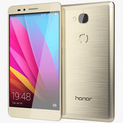 Huawei Honor 5X Gold Sunset 3d model