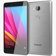 Huawei Honor 5X Cinza Escuro 3d model