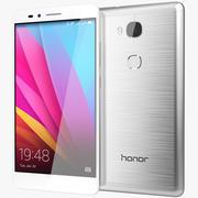 Huawei Honor 5X Daybreak Prata 3d model