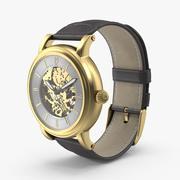 Szkieletowy zegarek 3d model