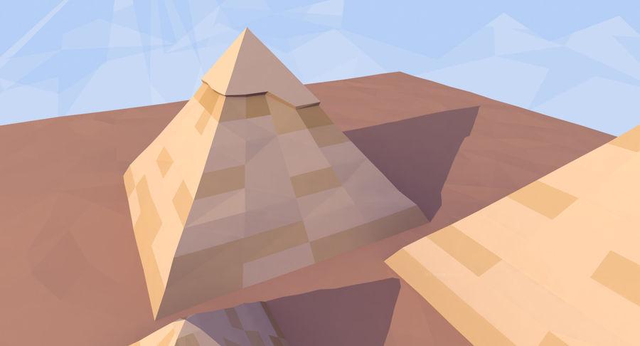 Низкополигональный сфинкс и пирамиды в Гизе royalty-free 3d model - Preview no. 7