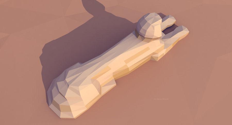 Низкополигональный сфинкс и пирамиды в Гизе royalty-free 3d model - Preview no. 8