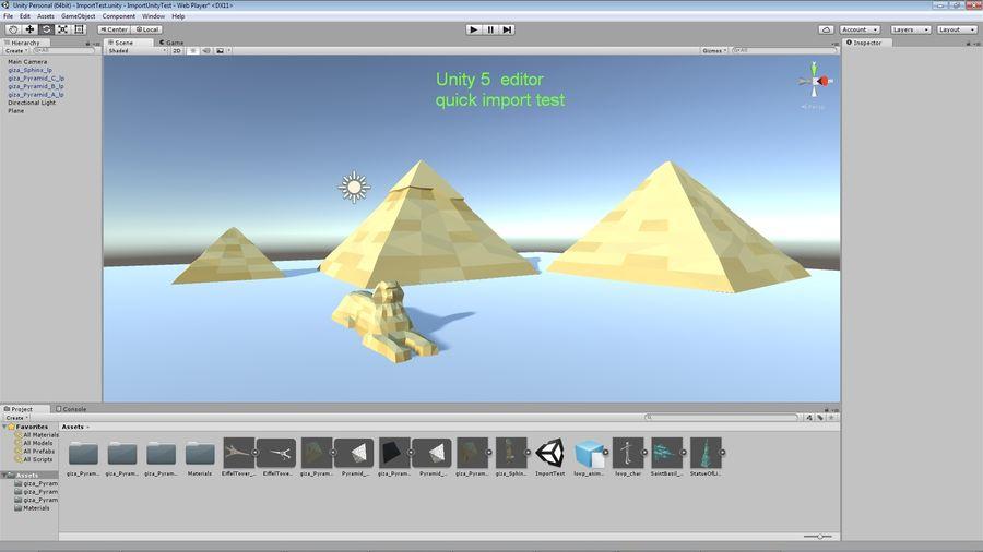 Низкополигональный сфинкс и пирамиды в Гизе royalty-free 3d model - Preview no. 10