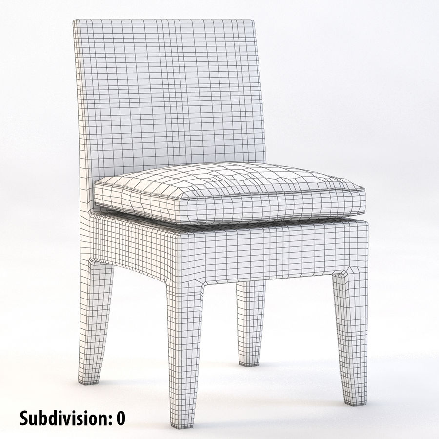La Jolla Кресло без подлокотников royalty-free 3d model - Preview no. 4