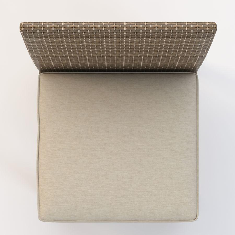 La Jolla Кресло без подлокотников royalty-free 3d model - Preview no. 11