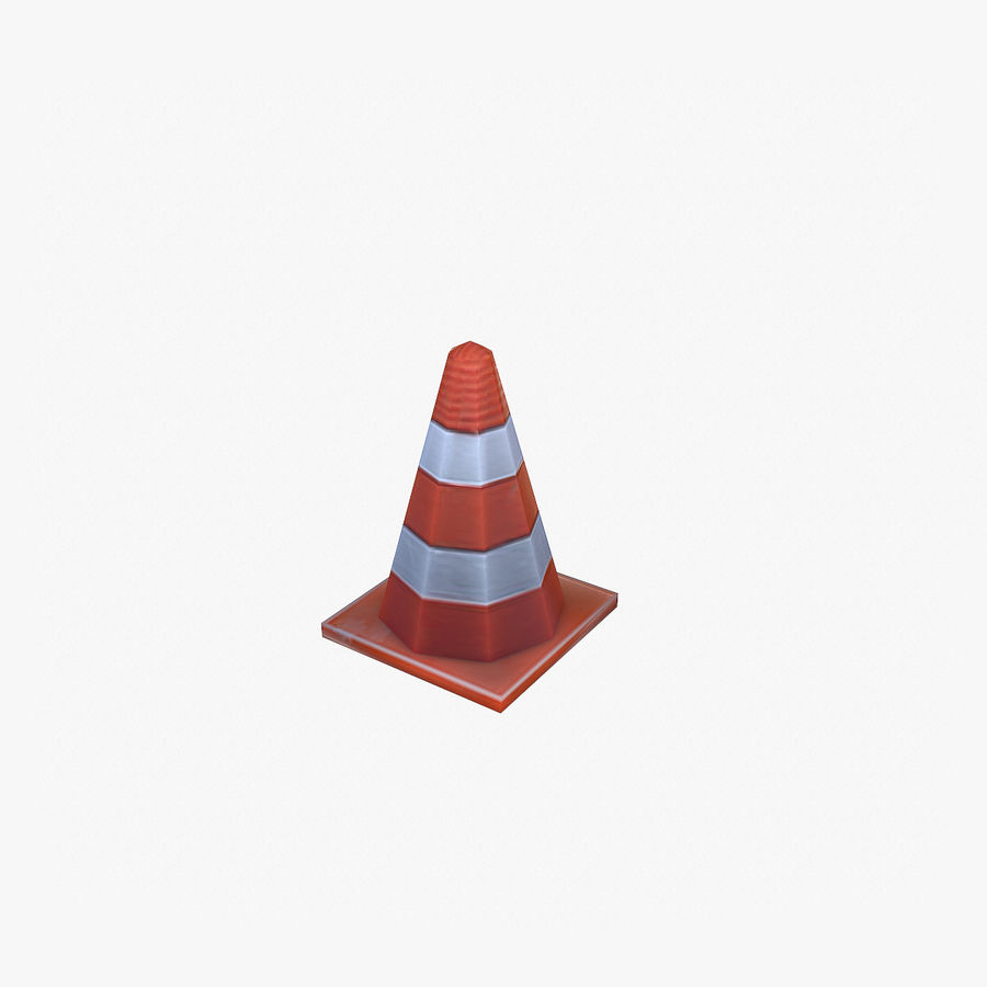 Road Props royalty-free 3d model - Preview no. 6
