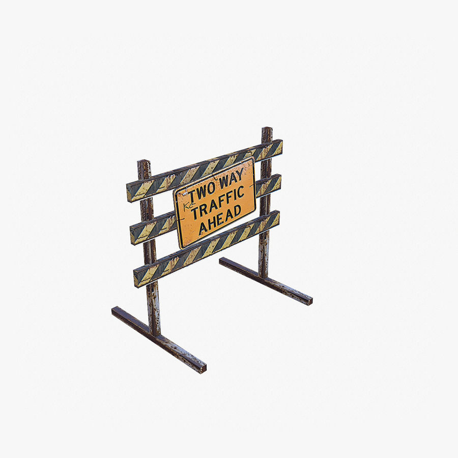 Road Props royalty-free 3d model - Preview no. 5