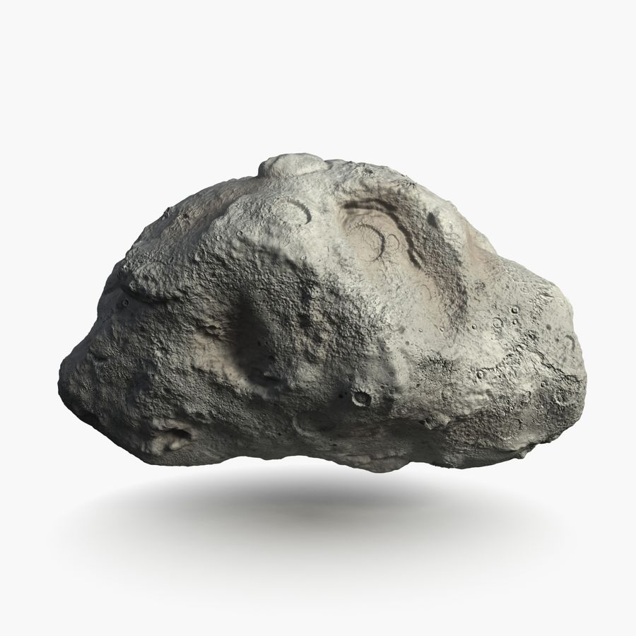 Asteroid royalty-free 3d model - Preview no. 1