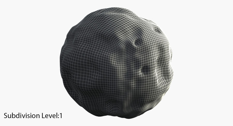asteroid royalty-free 3d model - Preview no. 16