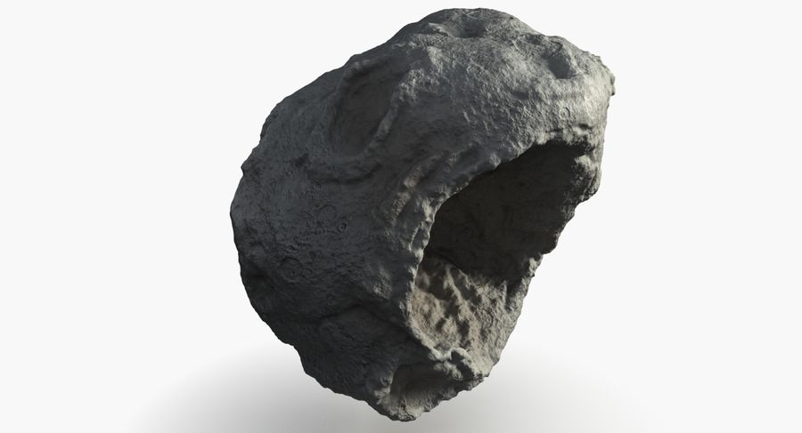 Asteroid royalty-free 3d model - Preview no. 4