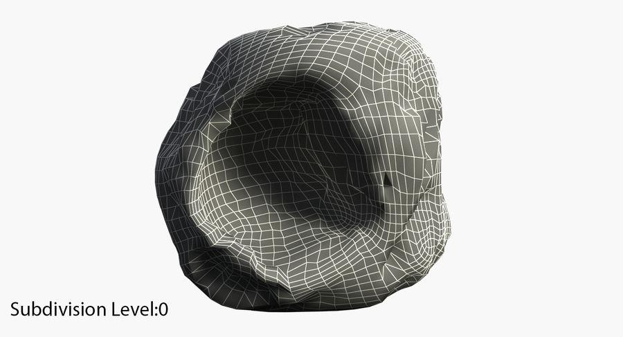 Asteroid royalty-free 3d model - Preview no. 6