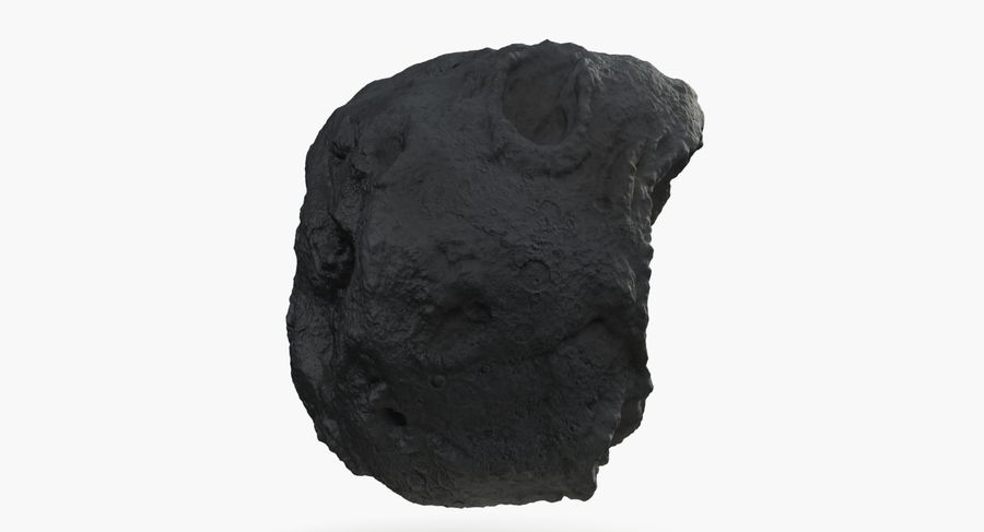 Asteroid royalty-free 3d model - Preview no. 7