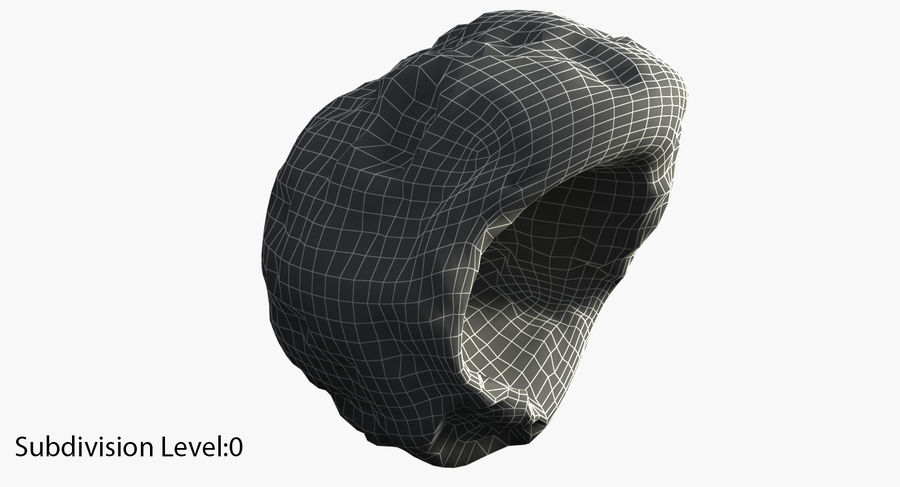 Asteroid royalty-free 3d model - Preview no. 8
