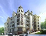 Edificio residencial detallado alto modelo 3d