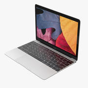Apple MacBookシルバー 3d model