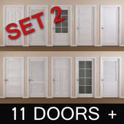 11 Interior Doors, Set 2 3d model