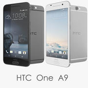 HTC One A9 Cinzento / Prateado Smartphone 3d model