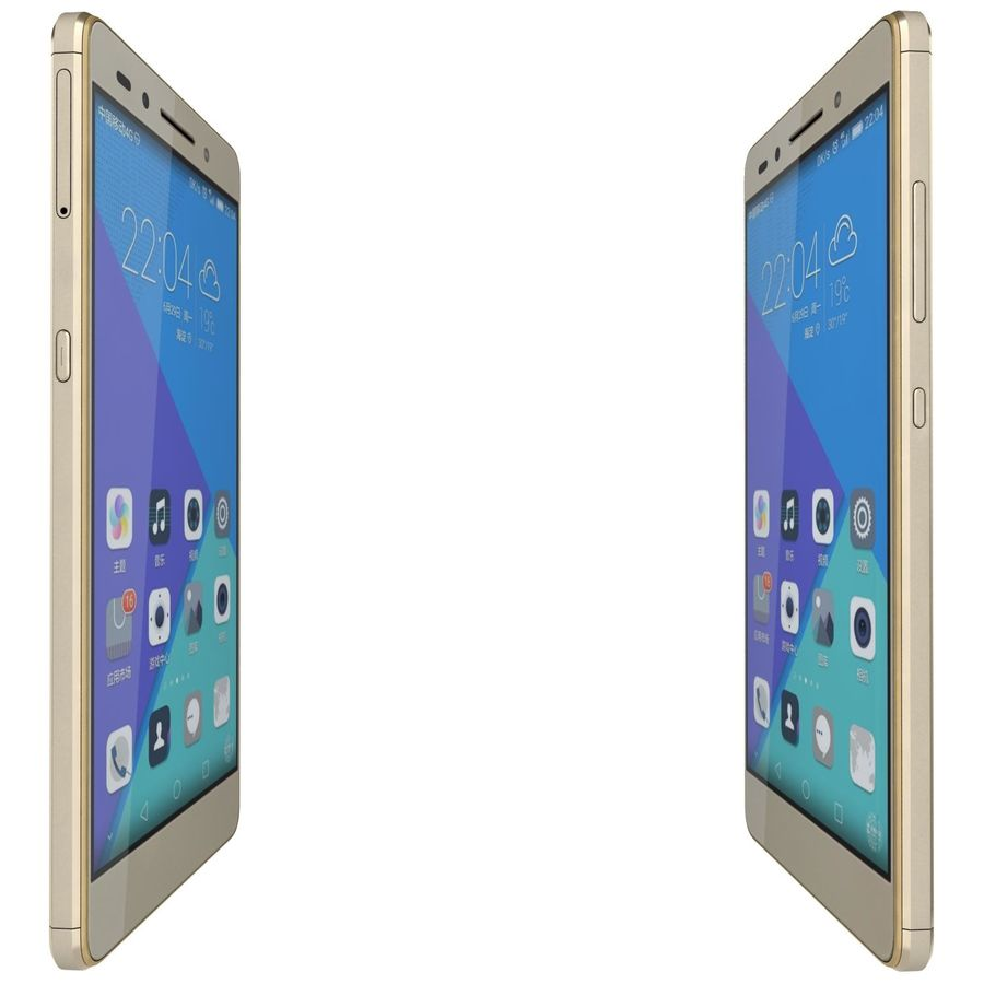 Huawei Honor 7 Gold royalty-free 3d model - Preview no. 10