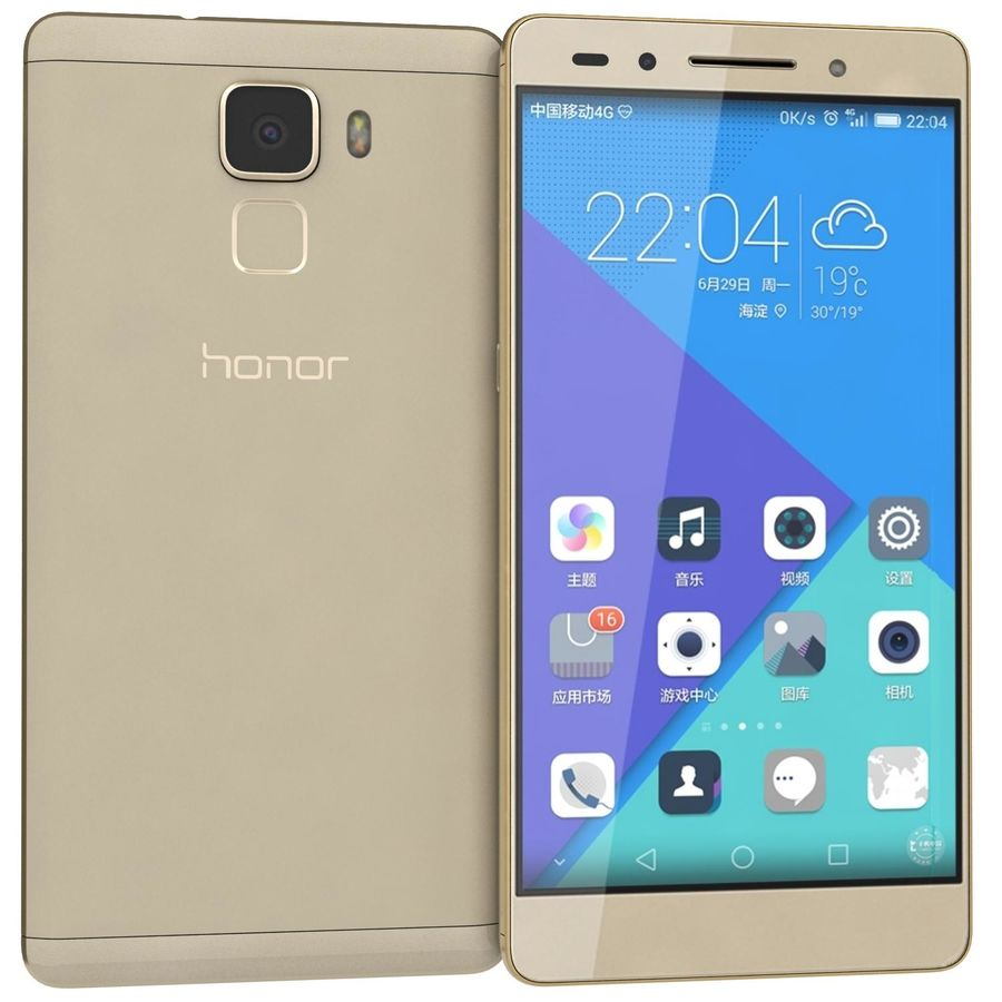 Huawei Honor 7 Gold royalty-free 3d model - Preview no. 1