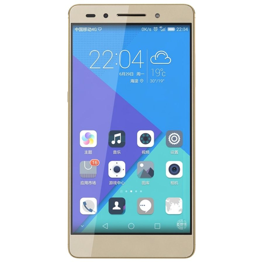 Huawei Honor 7 Gold royalty-free 3d model - Preview no. 6