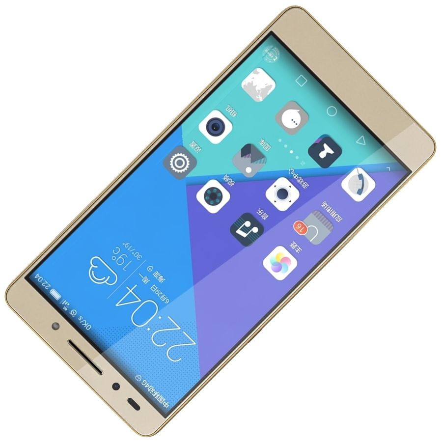Huawei Honor 7 Gold royalty-free 3d model - Preview no. 17