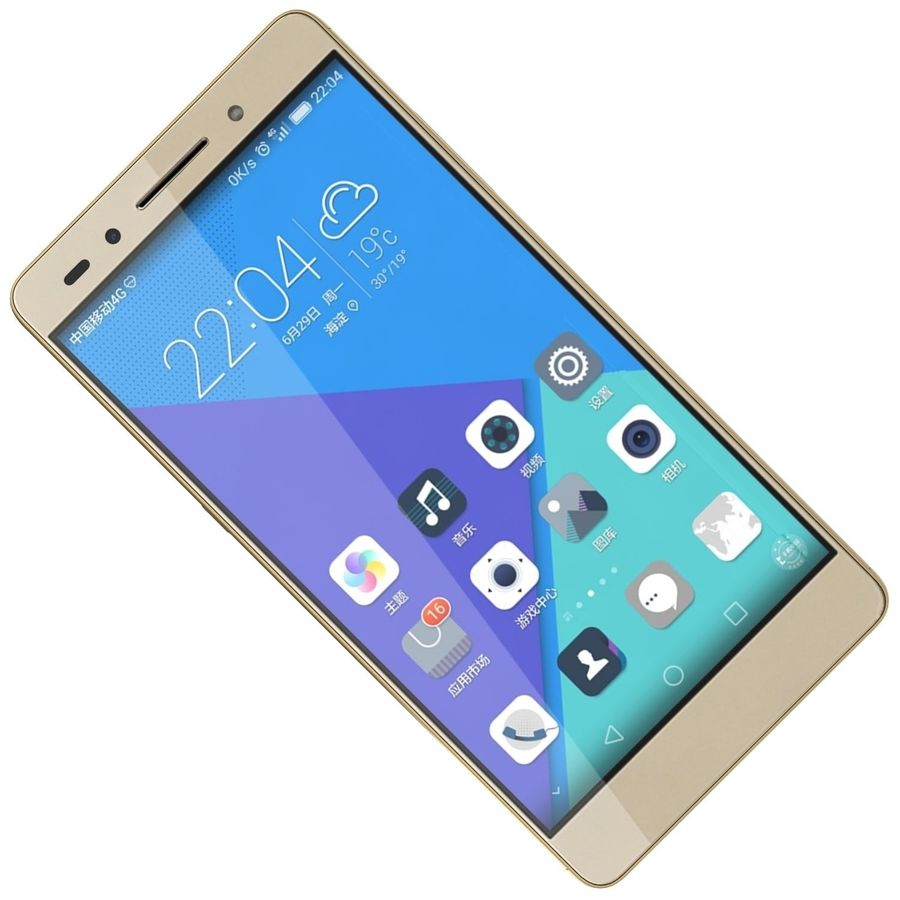 Huawei Honor 7 Gold royalty-free 3d model - Preview no. 18