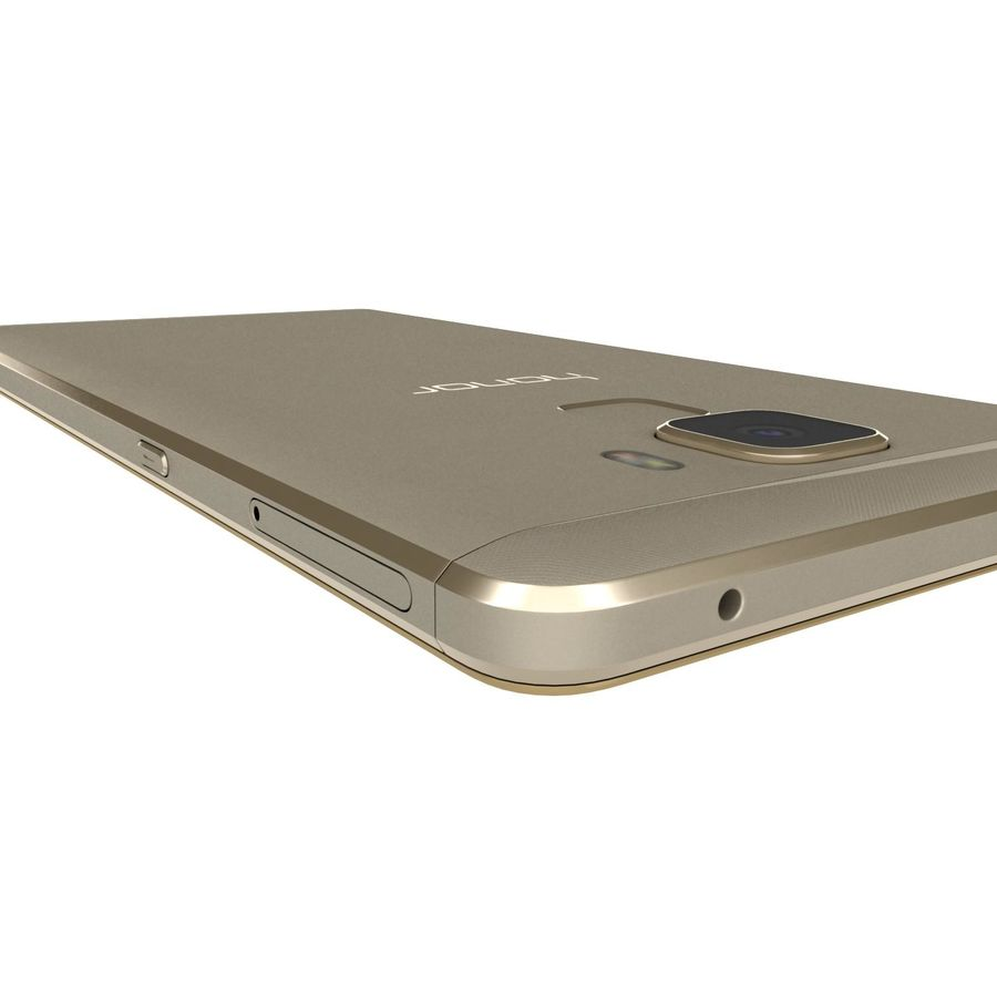 Huawei Honor 7 Gold royalty-free 3d model - Preview no. 26
