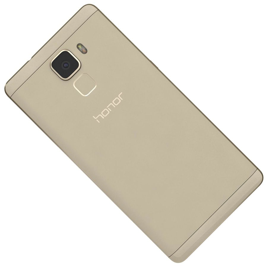 Huawei Honor 7 Gold royalty-free 3d model - Preview no. 19