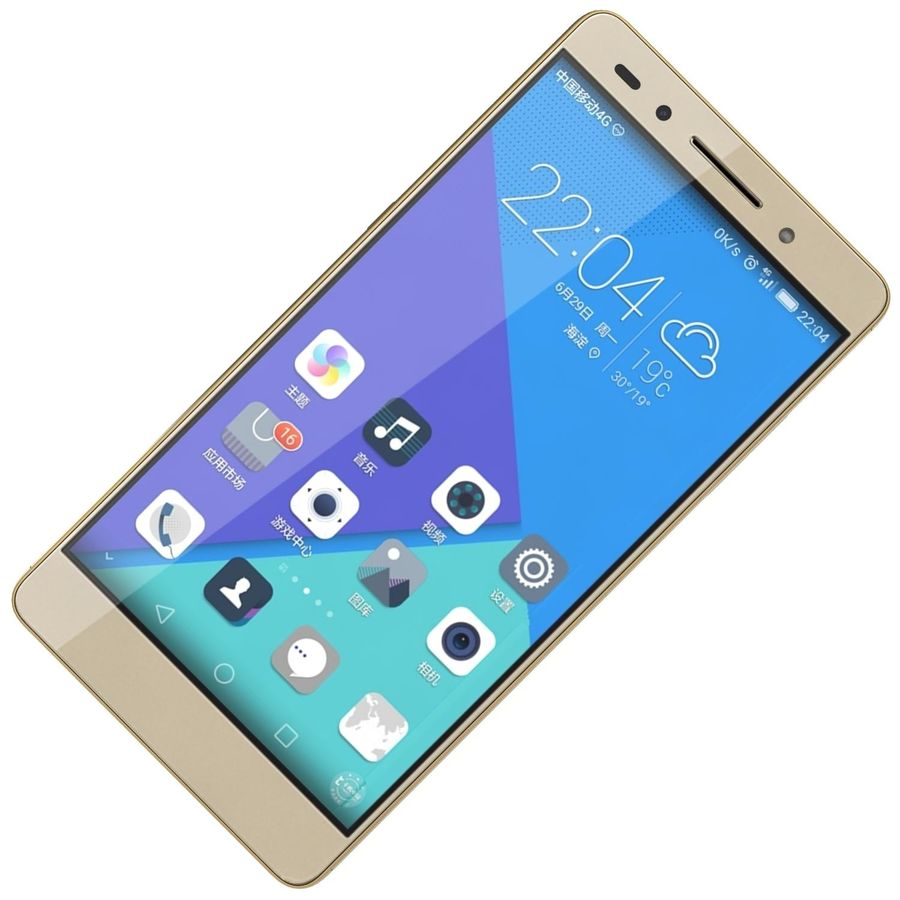 Huawei Honor 7 Gold royalty-free 3d model - Preview no. 15