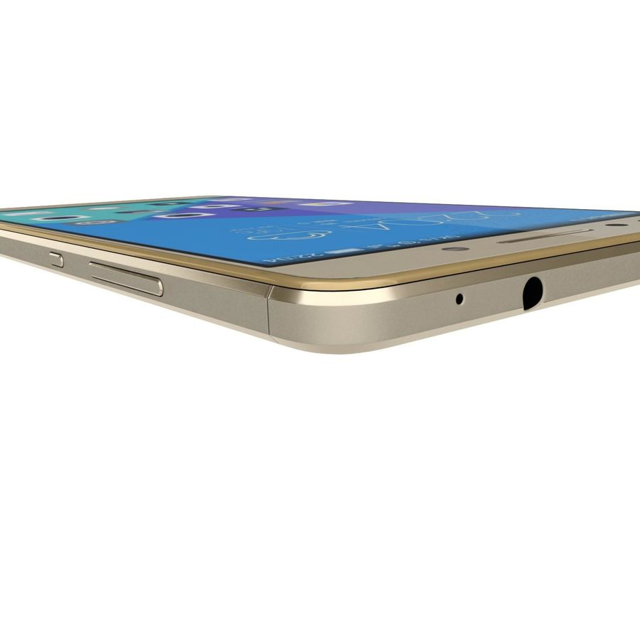 Huawei Honor 7 Gold royalty-free 3d model - Preview no. 24