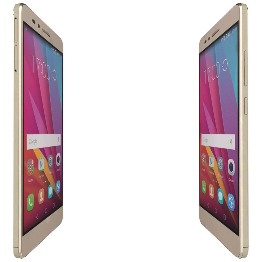Huawei Honor 5X Gold royalty-free 3d model - Preview no. 10
