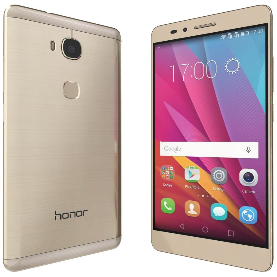 Huawei Honor 5X Gold royalty-free 3d model - Preview no. 4