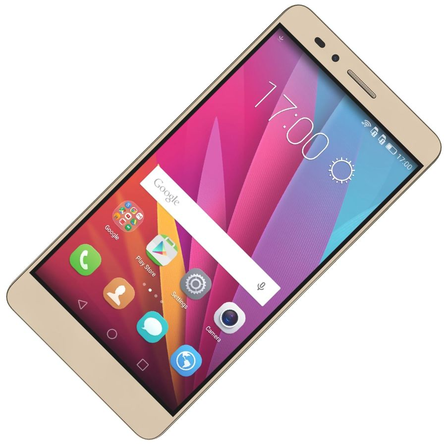 Huawei Honor 5X Gold royalty-free 3d model - Preview no. 15