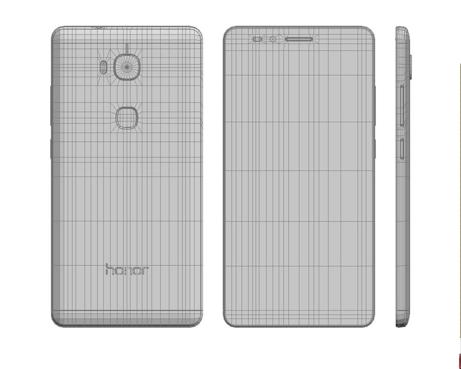 Huawei Honor 5X Gold royalty-free 3d model - Preview no. 27