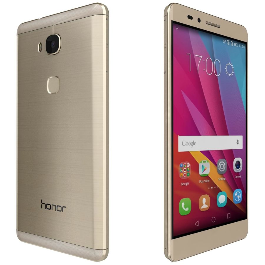 Huawei Honor 5X Gold royalty-free 3d model - Preview no. 5