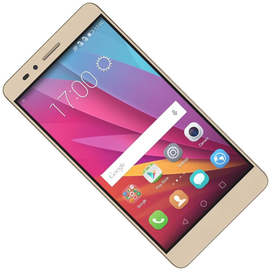 Huawei Honor 5X Gold royalty-free 3d model - Preview no. 18