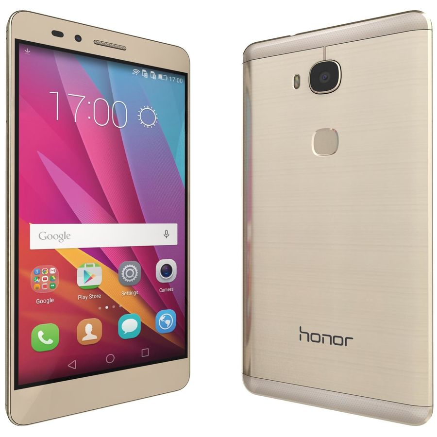 Huawei Honor 5X Gold royalty-free 3d model - Preview no. 3