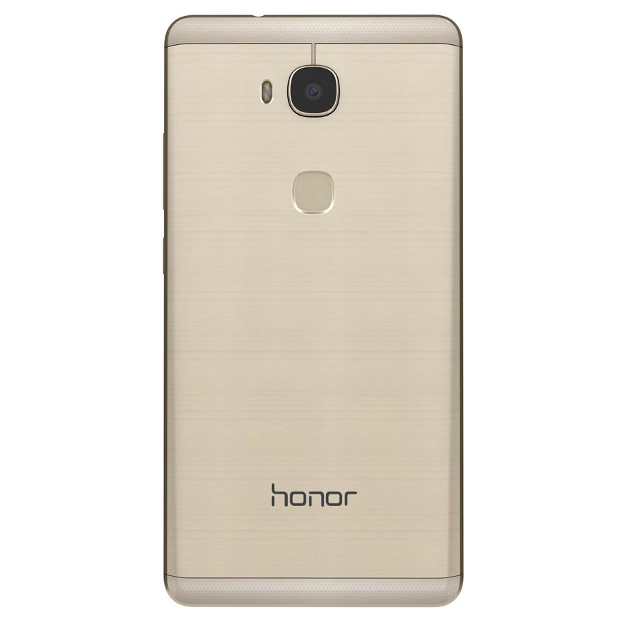 Huawei Honor 5X Gold royalty-free 3d model - Preview no. 7
