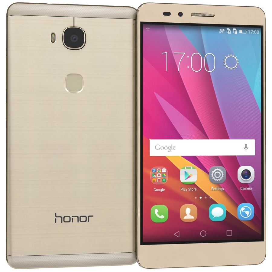 Huawei Honor 5X Gold royalty-free 3d model - Preview no. 1