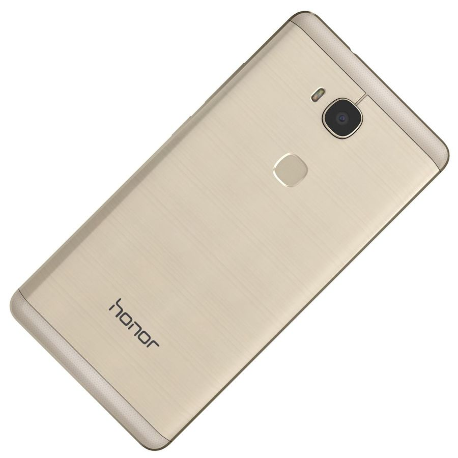 Huawei Honor 5X Gold royalty-free 3d model - Preview no. 20