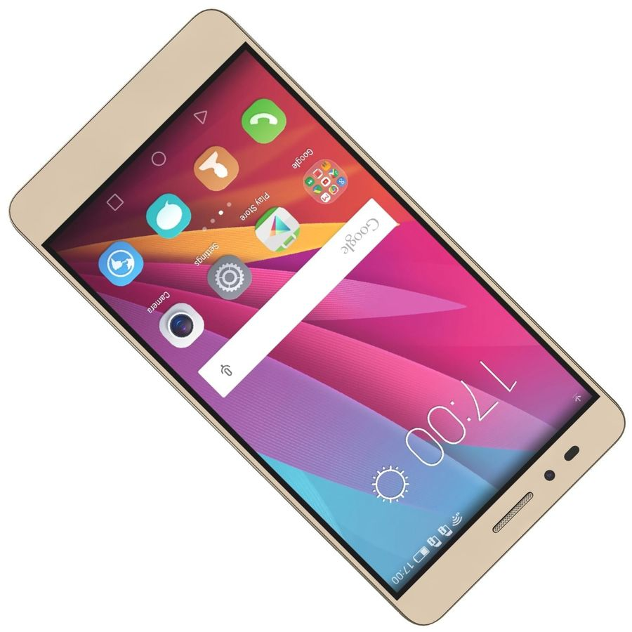 Huawei Honor 5X Gold royalty-free 3d model - Preview no. 16
