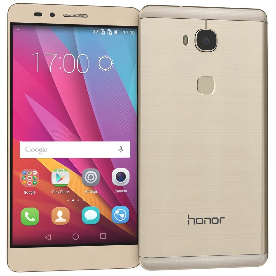 Huawei Honor 5X Gold royalty-free 3d model - Preview no. 2