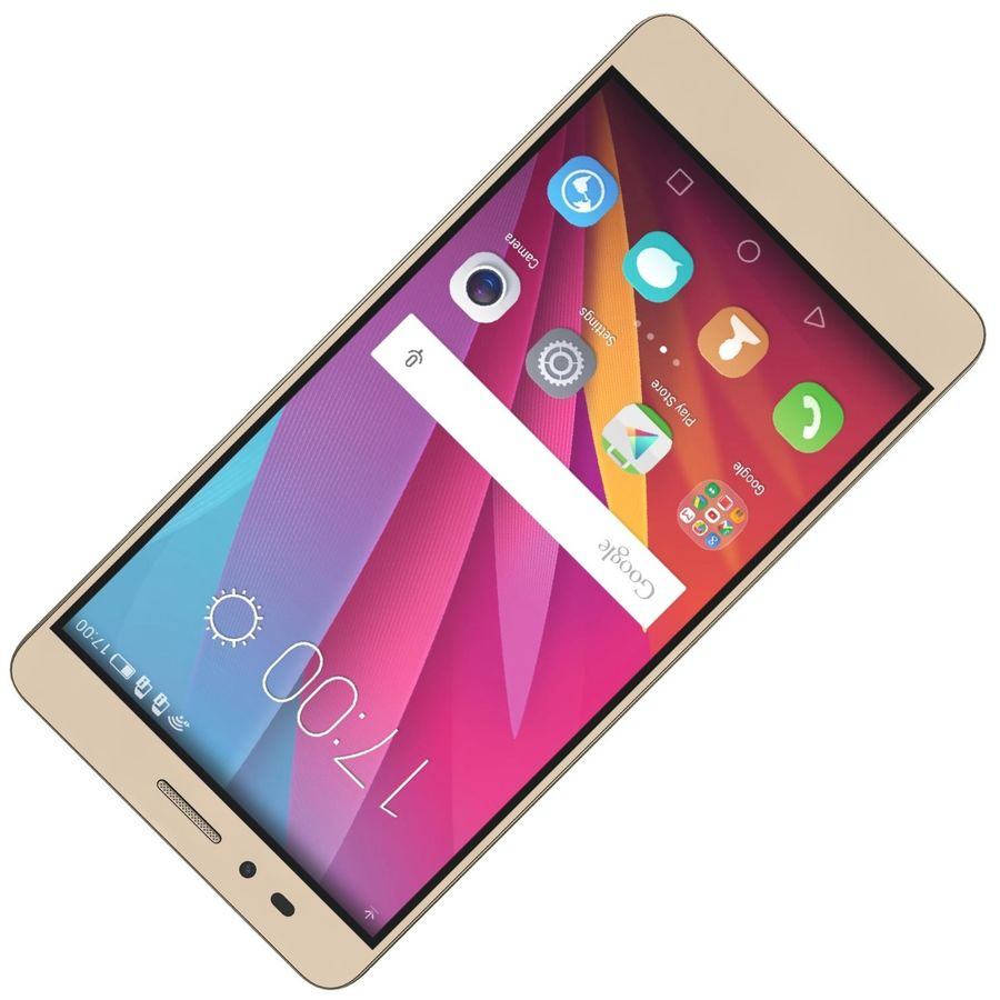Huawei Honor 5X Gold royalty-free 3d model - Preview no. 17