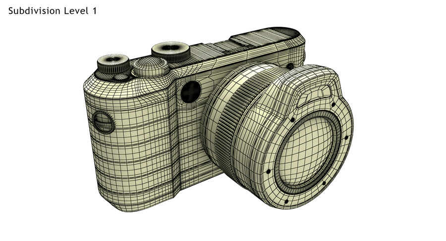 Leica XU Fotoğraf Makinesi DSLR royalty-free 3d model - Preview no. 25
